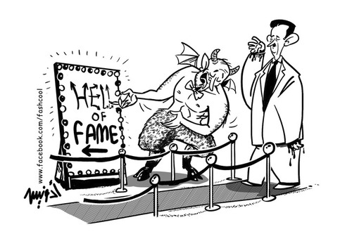 Cartoon: Hell of fame (medium) by ramzytaweel tagged syria,bashar,revolution,freedome,blood