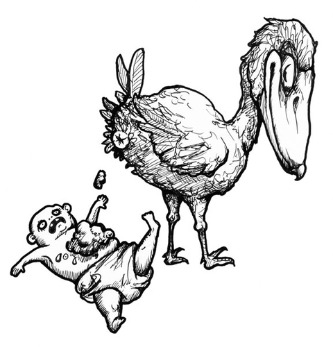 Cartoon: Baby Bird (medium) by vokoban tagged pen,and,ink,doodle,drawing,scribble,pencil