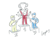 Cartoon: Podium Odor (small) by Lopes tagged formula one race podium winner champagne deodorant trophy splash sports