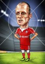 Cartoon: Arjen (small) by gamez tagged robben,arjen,riba,ribery,bayern,fc,gamez,gmz,gomez,homer,merab,barem,stadium,arcadium,rhcp,etc