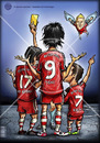 Cartoon: FootbaLL Players (small) by gamez tagged gmz