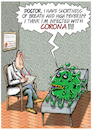 Cartoon: Corona by a Doctor (small) by Ridha Ridha tagged corona,coronavirus,doctor,cartoon,ridha