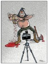 Cartoon: Say Cheese (small) by Ridha Ridha tagged say,cheese,black,humor,cartoon,by,ridha