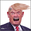 Cartoon: Trump character (small) by Ridha Ridha tagged trump,character,racist,venomous,selfish,conceited,person,cartoon,ridha