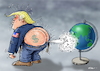 Cartoon: When the wind blows (small) by Ridha Ridha tagged trump,usa,war,military,security