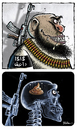 Cartoon: X-Ray (small) by Ridha Ridha tagged ray,cartoon,by,ridha,critical,against,the,ugly,face,of,terrorism,isis,al,qaeda