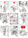 Cartoon: X (small) by Ridha Ridha tagged black,humor,cartoon,and,eand,of,love,story,by,ridha