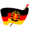 Cartoon: DDR - Fahne -  Emblem (small) by symbolfuzzy tagged symbolfuzzy,symbole,logo,logos,kommunismus,sozialismus,internationaler,arbeiterklasse,ddr,deutsche,demokratische,republik
