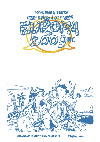 Cartoon: EUROPA 2009 (medium) by kanjano tagged kanjano,ferro,carnet,travel,voyage,comic,graphic,novel,france,spain