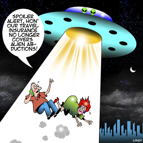 Cartoon: Abducted by aliens (medium) by toons tagged travel,insurance,aliens,the,universe,alien,life,kidnapping,travel,insurance,aliens,the,universe,alien,life,kidnapping