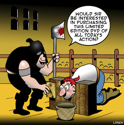 Cartoon: collectors edition (medium) by toons tagged guillotine,french,revolution,execution,death,penalty,dvd