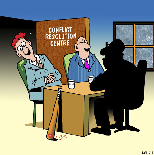 Cartoon: Conflict resolution (medium) by toons tagged resolution,conflict,mediate,mediator,councilling