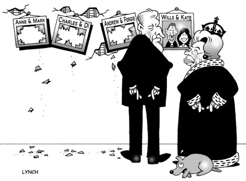 Cartoon: fingers crossed (medium) by toons tagged royal,wedding,wills,and,kate,middleton,queen,charles,buckingham,palace,family