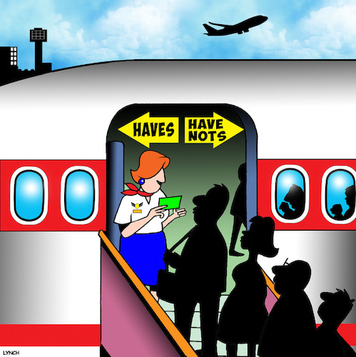 Cartoon: First class (medium) by toons tagged have,nots,air,travel,first,class,economy,rich,and,poor,frequent,flyers,aeroplanes,passenger,jets,have,nots,air,travel,first,class,economy,rich,and,poor,frequent,flyers,aeroplanes,passenger,jets