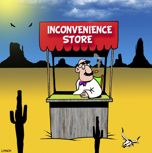 Cartoon: Inconvenience store (medium) by toons tagged convenience,store,shops,shopping,sales