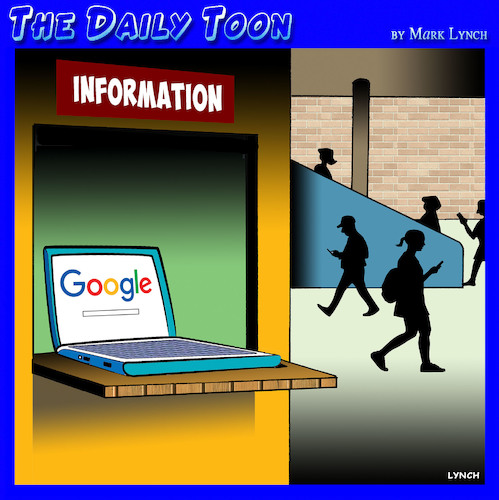 Cartoon: Information (medium) by toons tagged google,information,desk,department,store,shopping,gps,google,information,desk,department,store,shopping,gps