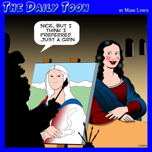 Cartoon: Mona Lisa (medium) by toons tagged mona,lisa,smile,leonardo,da,vinci,dentist,toothless,art,mona,lisa,smile,leonardo,da,vinci,dentist,toothless,art
