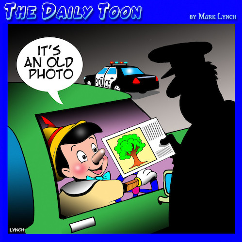 Cartoon: Pinocchio (medium) by toons tagged pinocchio,highway,patrol,police,speeding,ticket,trees,pinocchio,highway,patrol,police,speeding,ticket,trees