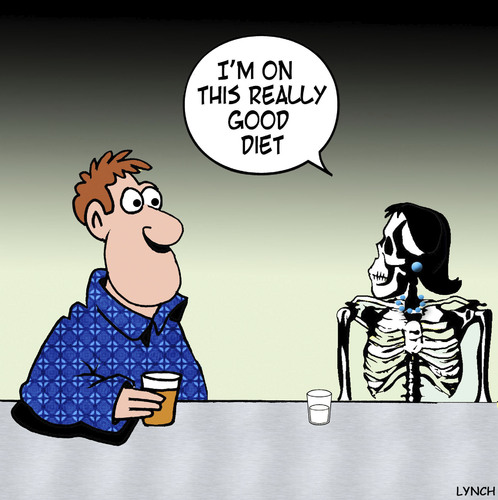 Cartoon: Really good diet (medium) by toons tagged dieting,anorexia,obesity,skeleton,dating,dieting,anorexia,obesity,skeleton,dating