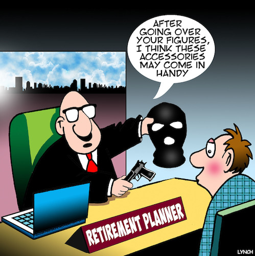 Cartoon: Retirement planning (medium) by toons tagged armed,robber,retirement,planning,pensioners,business,advice,armed,robber,retirement,planning,pensioners,business,advice