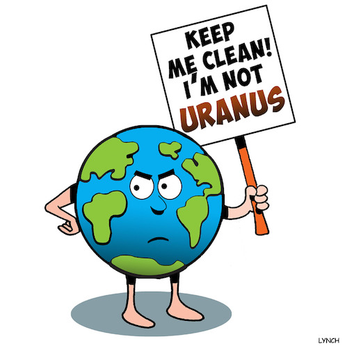 Cartoon: Save the planet (medium) by toons tagged uranus,pollution,climate,change,global,warming,fracking,contamination,uranus,pollution,climate,change,global,warming,fracking,contamination