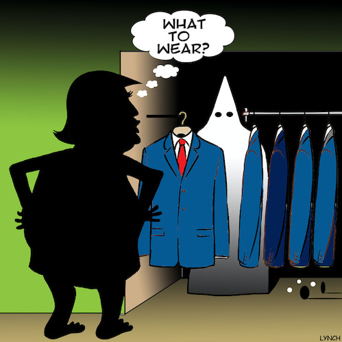 Cartoon: The Trump wardrobe (medium) by toons tagged racism,donald,trump,white,supremacists,kkk,fashion,usa,racism,donald,trump,white,supremacists,kkk,fashion,usa