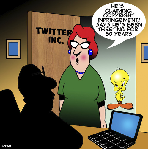 Cartoon: Twitter (medium) by toons tagged tweety,bird,twitter,social,networks,birds,angry,tweeting,tweety,bird,twitter,social,networks,birds,angry,tweeting