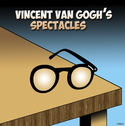 Cartoon: Van Gogh glasses (medium) by toons tagged van,gogh,glasses,eyesight,spectacles,reading,ears,artists,painter,impressionism,van,gogh,glasses,eyesight,spectacles,reading,ears,artists,painter,impressionism