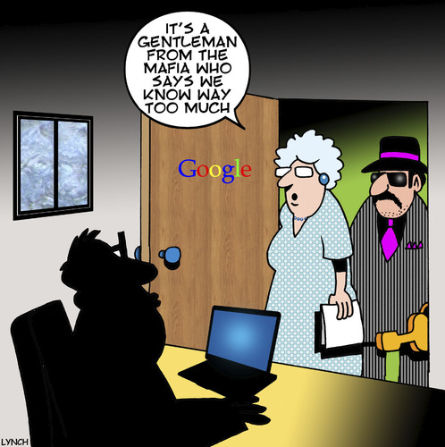 Cartoon: Way too much (medium) by toons tagged google,the,mafia,gangsters,search,engines,computers,google,the,mafia,gangsters,search,engines,computers