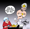 Cartoon: A Cuppa (small) by toons tagged genie,in,bottle,cup,of,tea,ovens,three,wishes,coffee,kitchen,stove