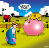 Cartoon: about time (small) by toons tagged cows,udder,cattle,milking,cow,farms,bovine