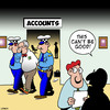 Cartoon: Accounts (small) by toons tagged accounting,fraud,robbery,arrested,police,handcuffs,corporate,discrepency