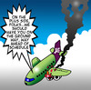 Cartoon: ahead of schedule (small) by toons tagged airlines,aircraft,planes,air,crash,pilots,travel,schedules,traffic,airline,terminal,flying,accidents,flight,attendant,passengers