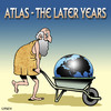 Cartoon: Atlas (small) by toons tagged atlas,planets,earth,mythical,character,strenghth,weifghtlifting