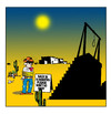 Cartoon: Back soon (small) by toons tagged capital,punishment,wild,west,western,hangman,noose,cowboy,outlaw,hanging,sherrif