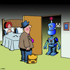Cartoon: Bad robot (small) by toons tagged robots,infidelity,sex,toys,unfaithful,artificial,intelligence,blow,up,doll