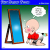 Cartoon: Baldness (small) by toons tagged balding,bald,babies,hair