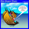 Cartoon: Beavers (small) by toons tagged poop,deck,noahs,ark,beavers,sinking,ship