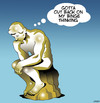 Cartoon: Binge thinker (small) by toons tagged the,thinker,binge,drinking,alcoholic,statues,sculpture
