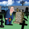 Cartoon: Boomerang (small) by toons tagged boomerangs,hand,grenade,suicide,gravestone,tombstone,cemetary