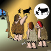 Cartoon: Cave drawing cartoon (small) by toons tagged cave,drawing,prehistoric,man,caveman,history,hunting,lies