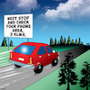 Cartoon: Check your phone (small) by toons tagged rest,areas,check,your,phone,road,trips,smart,phones