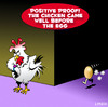 Cartoon: chicken before the egg (small) by toons tagged chicken before the egg chickens eggs philosophy