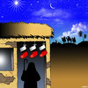 Cartoon: Christmas stockings (small) by toons tagged three,wise,men,christmas,birth,of,jesus,bethlehem,stockings,xmas,gifts