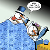Cartoon: Cold shoulder (small) by toons tagged smowman,cold,shoulder,rejection,knock,back