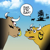 Cartoon: Coming out (small) by toons tagged bulls,cows,gay,farm,animals,coming,out,piercing,earings