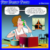 Cartoon: Cooking lessons (small) by toons tagged cooking,quarantine,covid,19,vodka