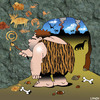 Cartoon: copyright (small) by toons tagged copyright,caveman,cave,paintings,prehistoric,dinosaurs,art