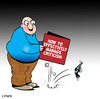 Cartoon: criticism (small) by toons tagged criticism,critical,hand,gun,pistol,self,help,books,paranoid,firearms