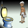 Cartoon: Custom made toilet seat (small) by toons tagged hindi,india,bed,of,nails,toilet,seat,ancient,customs